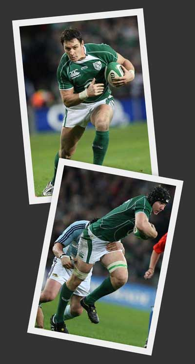 Stephen Ferris, David Wallace. Irish Rugby