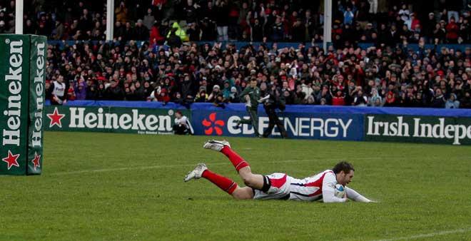 Ulster Fans celebrate, Ulster v Harlequins